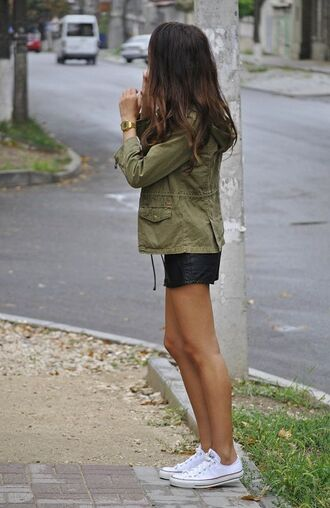 coat pretty nice outfit nice cute cute outfits girly outfits tumblr girly green jacket