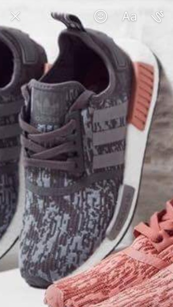 shoes grey grey white pink adidas nmd adidasnmd