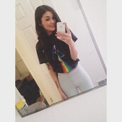 pants,high waisted,cute,hippie,indie,hipster,pink,pink floyd,pink floyd shirt,high waisted pants,acid wash,t-shirt