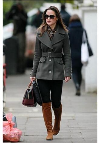 blouse animal print fall outfits coat pippa middleton