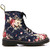 ROMWE | Floral Upper Lace Up Blue Martin boots, The Latest Street Fashion