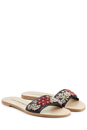 embellished sandals leather sandals leather multicolor shoes