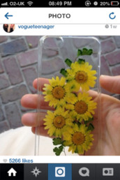 phone cover,clear case,iphone 5 case,iphone case,sunflower,clear with yellow flowers  on it
