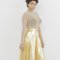 Pippa faux gold metallic leather pleated skirt at flyjane