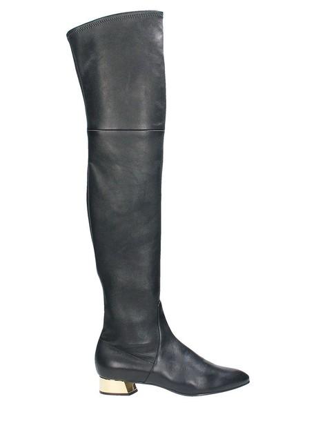 CASADEI heel metallic black shoes