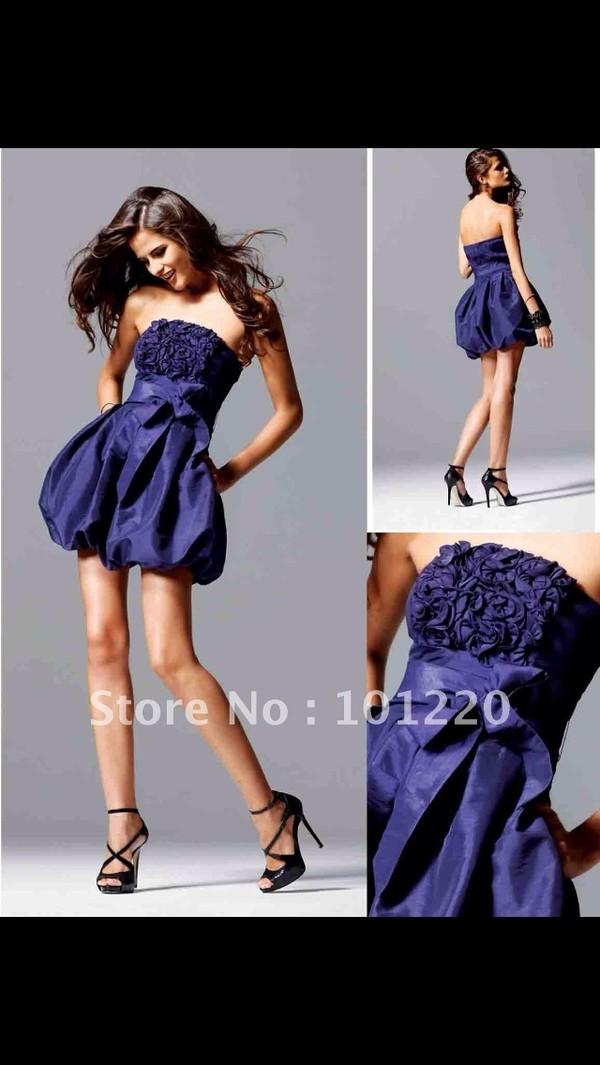 dress blue purple prom prom dress short