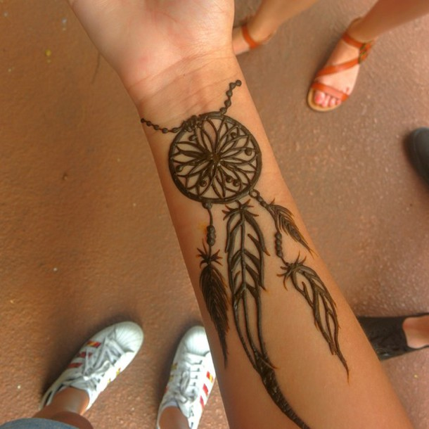 Hawaiian Dream Catcher makeup henna tattoo dreamcatcher cute hipster hawaiian 32