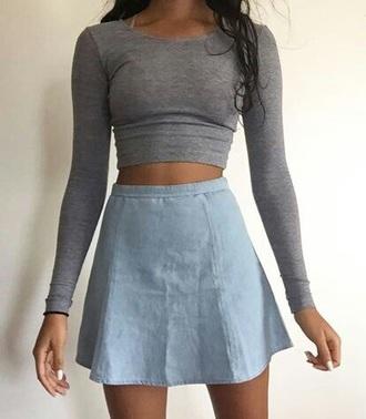 skirt denim skirt denim cute jean skater skirt skater skirt jeans style cute dress shirt