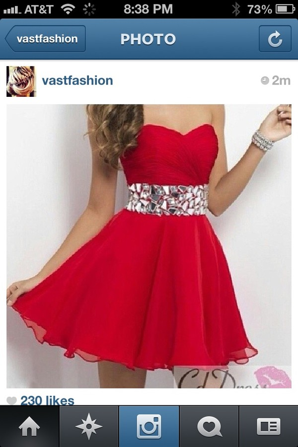 dress red dress girly