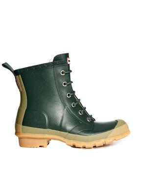 Hunter | Hunter Thurloe Olive Lace Up Boot at ASOS
