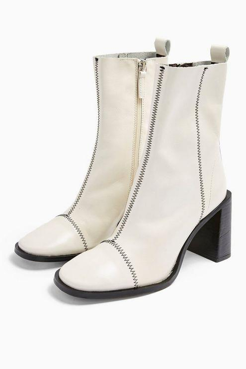 Homerun White Leather Boots - White