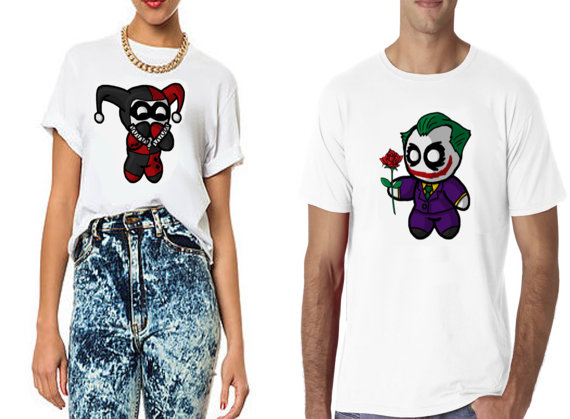 Harley quinn and joker love tshirts perfect for by sleepingbirds