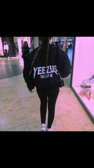 jacket yeezus black jacket