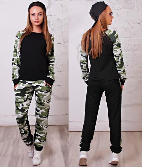 jacket camouflage jumpsuit tracksuit sweater
