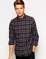 Asos shirt in long sleeve with mini check at asos.com