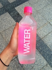 water,summer,hipster,tumblr,bag,swimwear,water bottle,pink,jewels,pink bottle,sportswear,underwear,workout,cotton on foundation,belt,t-shirt,home accessory,tumbl a f,nice,love,nails,bottle necklace