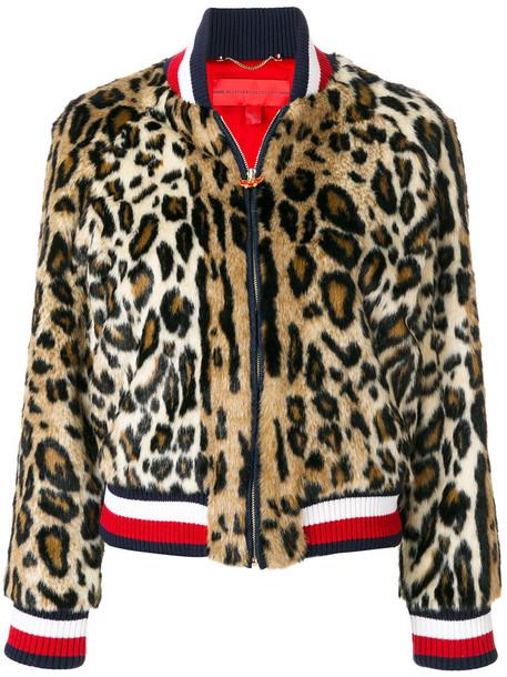 Hilfiger Collection jacket bomber jacket women print leopard print