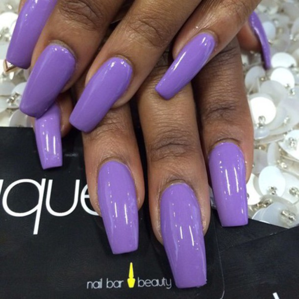 nail accessories, nails, acrylic nails, tumblr, purple ...