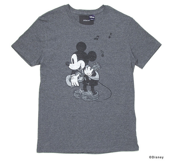 yellow t-shirt grey t-shirt white t-shirt print cartoon casual rehacer x disney 7th anniversary mickey mouse tees
