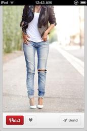 jeans,jacket,black,leather jacket,blue skinny jeans,black leather jacket,jewelry,coat,brown leather,ripped jeans,jewels,boyfriend jeans,streetwear,fall outfits,streetstyle