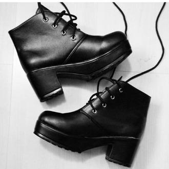 shoes black leather platform platforms platform boots platform heels platforms black fashion platform shoes boots black boots black shoes