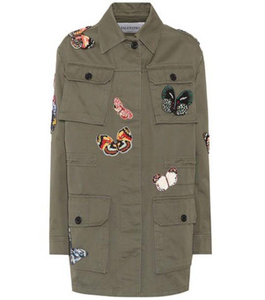 Valentino jacket cotton green