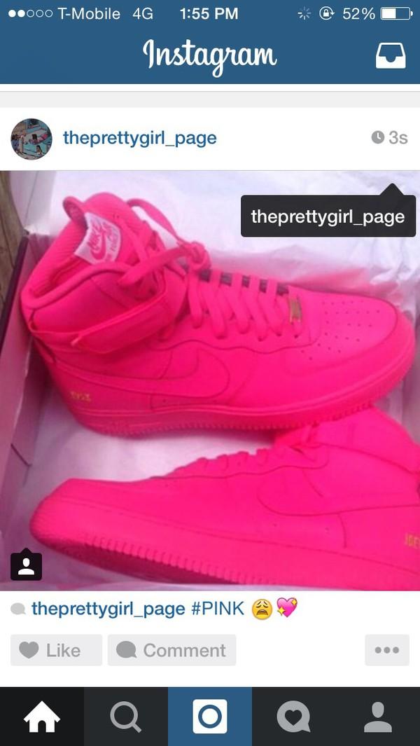 shoes pink nike high tops nike shoes dope pretty socks