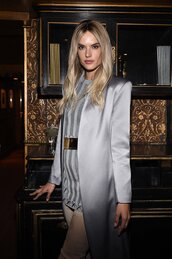 dress,alessandra kamaile,model off-duty,balmain,mini dress,bodycon dress,coat,paris fashion week 2016,fashion week 2016