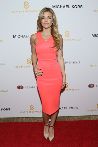 annalynne mccord pumps midi dress coral bodycon dress
