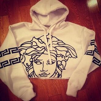 sweater hoodie versace winter white medusa black and white cropped hoodie aztec hoodie white versace sweater wiz khalifa white versace sweater jacket versace jordans tumblr