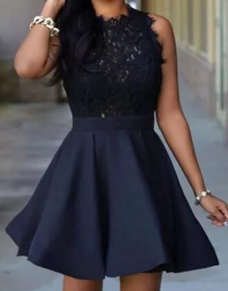 dress little black dress flare skirt mini dress