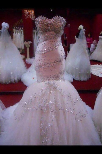 dress mermaid prom dress wedding dress pink dress