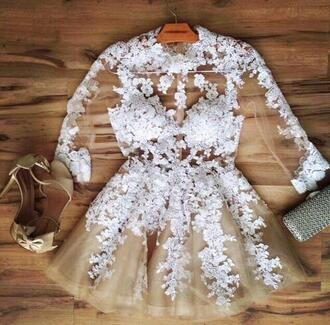 dress white dress lace dress