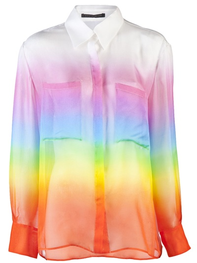 Christopher Kane Rainbow Georgette Top - Curve - farfetch.fr