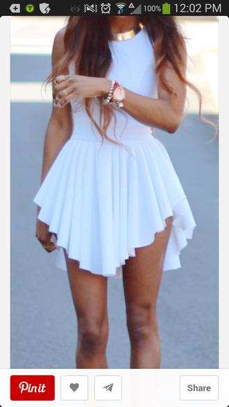 white dress gold collar