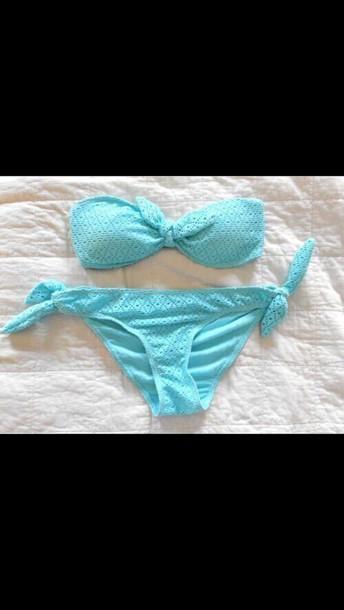 swimwear baby blue bikini
