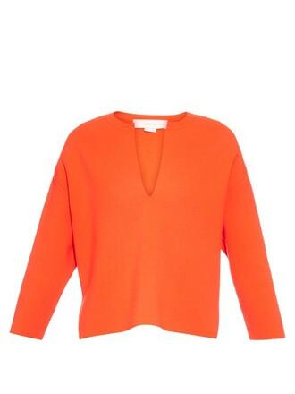 sweater wool orange