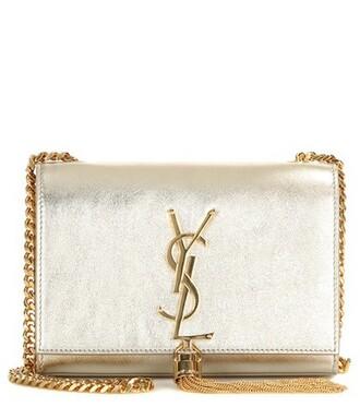 metallic classic bag shoulder bag leather gold