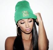 hat,sexy ass,dope,green,fine ass girls,beanie