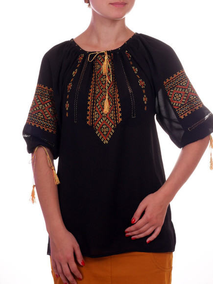 ethnic shirt blouse chiffon embroidered shirt ukraine embroidered traditional clothes