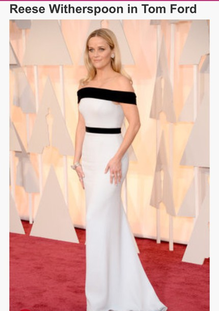 dress tom ford white dress fashion formal dress passions for fashion actress reese witherspoon oscars 2015