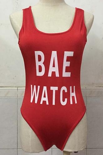 swimwear red fashion bodysuit sexy style free vibrationz
