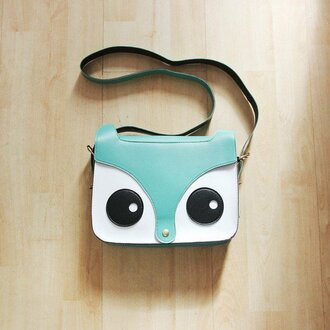 bag blue fox animal harajuku streetstyle handbag shoulder bag vintage cute print boho bohemian dealsforyou grunge tumblr tumblr outfit summer summer outfits girl hair