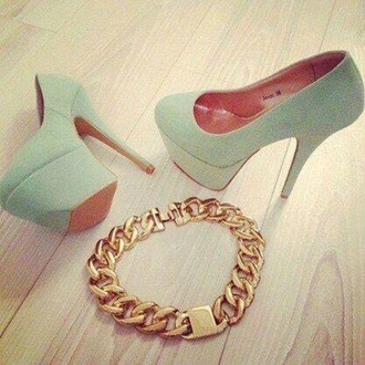 shoes mint mint green shoes high heels heels jewels