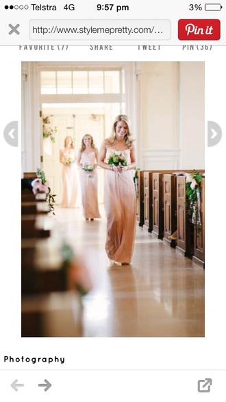 dress wedding dress bridesmaid dip dyed dip dye dyed fairy peach dress chiffon flowy dress summer dress spring dress