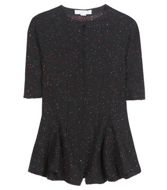 Stella McCartney Knitted Wool-blend Blouse in black