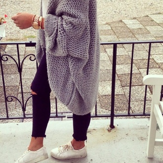 cardigan grey cosy