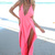 Pink Longer Lengths Dress - Neon Pink Halter Neck Maxi | UsTrendy