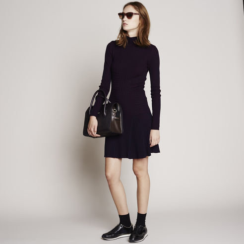 Long-Sleeve Zigzag Stitch Sweater Dress - Lacoste Canada