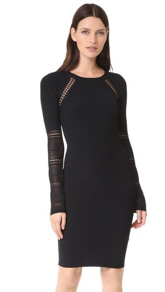 dress sweater dress black